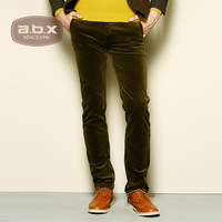 New Abx2013 autumn and winter fashion male corduroy pants trousers slim corduroy casual pants male  free shipping