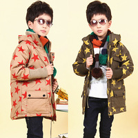 Hot Child 2013 wadded jacket male female child thickening cotton-padded jacket cotton-padded jacket outerwear wadded jacket e2