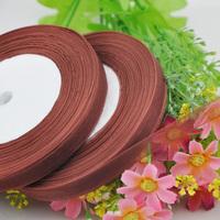 """100Y 3/8"""" Sheer Organza Ribbon Craft/Wedding/sewing Dark Coffee  RA125"""