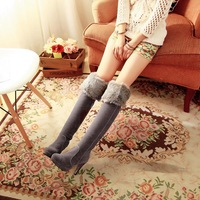 2013 brief elegant all-match boots plush high-leg kk7565 80 free shipping