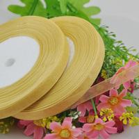 "100Y 3/8"" Sheer Organza Ribbon Craft/Wedding/sewing Dark Gold  Color  RA123"