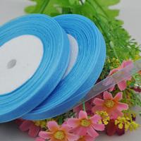"""100Y 3/8"""" Sheer Organza Ribbon Craft/Wedding/sewing Sky Blue  Color  RA124"""