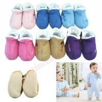 1 Pair Beautiful Love Print Anti-slip Soft Bottom Unisex Toddler Baby Shoes