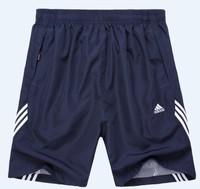 Sports Men shorts casual double layer net capris running shorts male knee-length short basketball male short