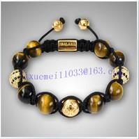 Min.order is $10(mixed order)NYE3338 golden zebra beads women fashion shamballa bracelet