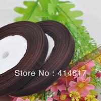 """100Y 3/8"""" Sheer Organza Ribbon Craft/Wedding/sewing Dark Brwon  RA130"""