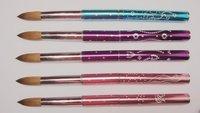 Wholesale+New Design 10# Nail Tools Pure kolinsky professional diamond painting Nail acrylic brush Free Shipping 1pcs