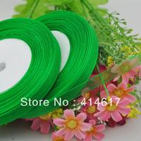 "100Y 3/8"" Sheer Organza Ribbon Craft/Wedding/sewing Dark Green  RA137"