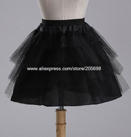 petticoat black ballet bride Organza wedding dress pannier underskirt petticoat free shipping
