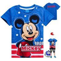 2014 Summer New Fashion 6pcs/lot kids boys cartoon short sleeve t-shirts 100% cotton Mickey t shirt children summer wear