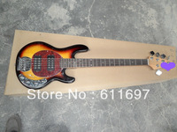 2014 new arrival + free shiping + factory + musicmale 5 strings sting ray 5 type electric bass with big effect active pickups