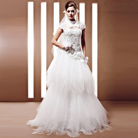 Creative fox wedding customize quality luxury wedding bride puff skirt 2013 90056