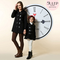 Julep senior children's clothing fashion family fashion clothes for mother and daughter black horn button vintage autumn and
