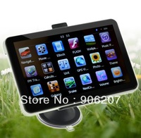 HD 7  Inch Car GPS  Windows CE 6.0 4GB Touch screen GPS Navigator MSB2521A 533MHZ with MP4 MP3 FM Transmitter GPS System