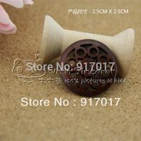 Free Shipping 100pcs 25mm 2 holes wood button cutout handmade diy accessories dark color  W40LC012B