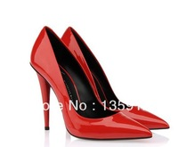 Fall 2013 new styles, GZ brand paint pointed high-heeled shoes, temperament women high heels