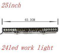 NEW!!!25 INCH 24led  120W High intensity LED LIGHT BAR flood  FOR OFF ROAD LED BAR IP67 4WD LED Driving LED WORK LIGHT BAR