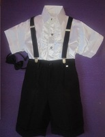 Free shipping new 2014 overalls kids pants costume stage male child formal dress dance baby boy clothing set 2pcs