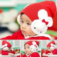 2014 New Brand Winter Warm Ear Flap Baby Hats/Lovely Rabbit Crochet Hats Baby/Fashion Designer Baby Clothing