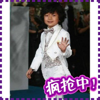 Free shipping boys blazer white tuxedo baby boy children outerwear clothing set kids wedding suit coats and jackets for children