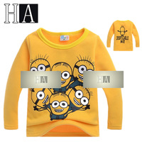 Wholesale Baby Boys Girls Yellow Super Dad Pattern Long Sleeve T Shirt Children New Year Costume Kids Warm O-Neck Tops 4 Pcs/Lot