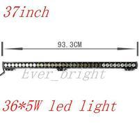 NEW!!!37INCH 36led  180W High intensity LED LIGHT BAR spot  FOR OFF ROAD LED BAR IP67 4WD LED Driving LED WORK LIGHT BAR