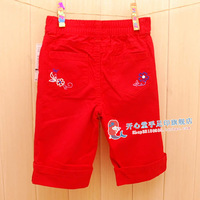 2014 Time-limited Wholesale Freeshipping 10pcs/lot Spring And Autumn 100% Cotton Baby Breathable Trousers Beautiful Belt Legging