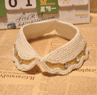 Collar popular fashion sweet handmade beading rhinestone lacing collar mz044