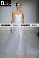 christos new arrival fashion elegant tube top senior the bride wedding dress