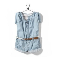 Free Shipping Washed Girls Jumpsuits summer fading design