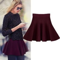 2013 autumn women's fashion skirt high waist expansion bottom short skirt solid color pleated bust skirt female