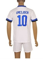 13-14 inter milan #10 sneijder Soccer Jersey uniforms kit, inter milan away white football jersey & short set/suit 13 14