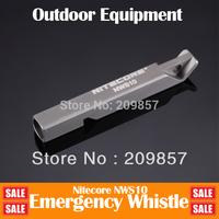 Free Shipping + NiteCore Gift Present Whistle NWS10 120 Decibels Titanium Lightest KeyChain Outdoor Equipment Emergency Whistler
