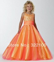 FL4262 2014 New Arrival Lovely A Ling Long Flower Girl Dress Princess Dress Diamond