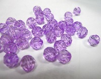 FREE SHIPPING WHOLESALE  8MM  1000PCS/LOT, PURPLE  PLASTIC BEADS  CUT BEADS  DIY BEADS FOR BRACELET NECKLACE EARRING
