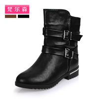 The spring and autumn period and the new 2013 short boots with naked leisure female flat boots. Free shipping