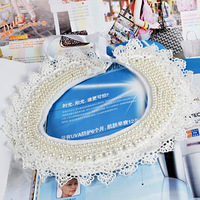 Hot-selling 2013 the trend vintage lace decoration the collar pearl false collar flower beads mz030