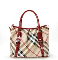 2014 Fashion women handbag designer ladies vintage plaid bags luxury business establishments bag tote bag