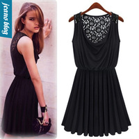 2013 new casual dress Promotions trendy fashion women clothes casual sexy lace dress sleeveless retro sultry vestidos HQ GZ0028