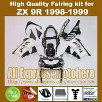 WEST fairing kit for KAWASAKI ninja 1998 1999 ZX-9R 98 99 ZX9R 1998-1999 ZX 9R 98-99 motorcycle fairings + 7gifts BLACK A0B01