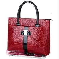 Stone grain snakeskin grain new bag handbag namely two vintage handbags crocodile handbag