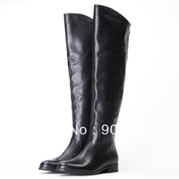 2013 fashion boot first cow skin real leather over-knee boots free shipping