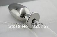New Stainless Steel Solid Flush Anus Suppository Enemator Anal Plug A507