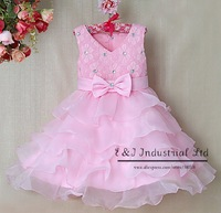 Arrival Baby girl New Fashion Dress rose slip Dress Kid party girl layered Dress cotton and polyester dress GD31115-10