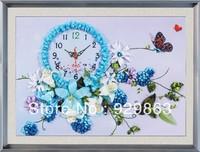3D cross stitch Purple Attractive Love new arrive embroidery ribbon kits silk thread big size needlework kit home decoration