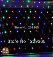 LED string light 220V 1.5m*1.5m 96 LEDs net light waterproof outdoor decorative lights holiday Christmas light #2031