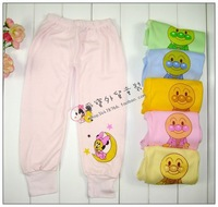 2014 New Real Unisex Elastic Waist Wholesale Freeshipping 10pcs/lot Candy Color 100% Pants Open File Trousers Baby Long Johns