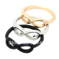 Letter Ring Fashion Jewelry Infinity Symbol 8 Finger Ring Free Shipping Mixed Colors 18pcs/lot
