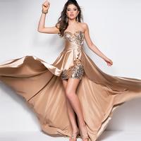 6 Color New women dress party dresses Sweetheart Sleeveless Bandage plus size vestido Formal Front Short Long Back Evening Dress