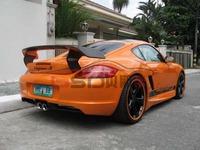Portion Carbon fiber trunk spoiler rear spoiler For 06-12 Porsche Cayman 987 TA style  trunk spoiler